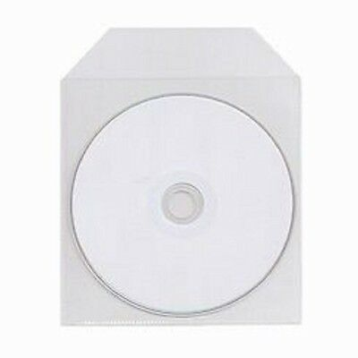 100 Pack CPP Clear Plastic Bag Sleeve Fit CD DVD