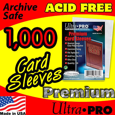 1000 Ultra Pro Platinum Premium Card Sleeves Acid Free Archive Safe 81385-10