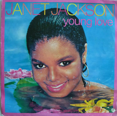 "7"" 1982 ! JANET JACKSON : Young Love // MINT- \"