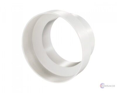 """125-100mm reducer, plastic ducting, extractor fan 5"""" to 4"""" Flexible ducting"""