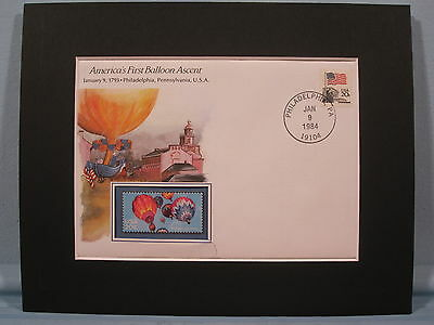 America's First Successful Balloon Ascent & stamp