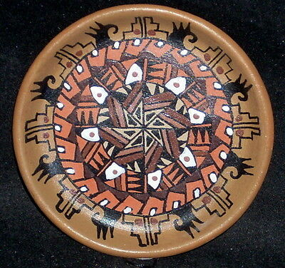 Miniature Southwest Native American Indian Gloria Bogulas Plate #7506