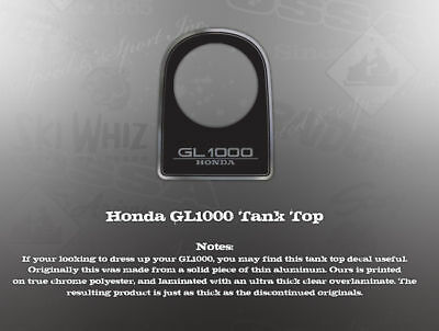 Honda Gl1000 Goldwing Tank Top Decal Graphic