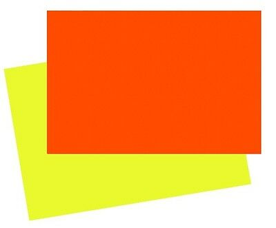 50 x A4 BRIGHT FLUORESCENT NEON DAYGLO PAPER 80gsm YELLOW OR ORANGE
