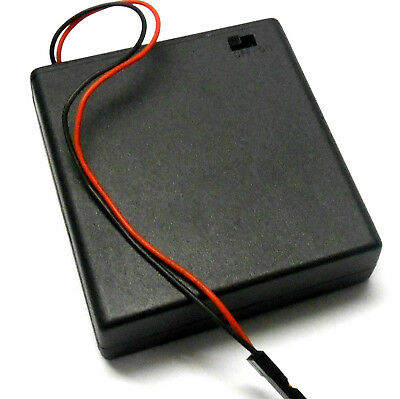 C1201-2 RC Battery Holder Case Box Pack 4 AAA JR 3 Pin