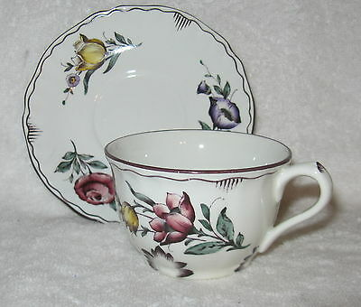 Rorstrand ROR30 Floral Center Cup and Saucer
