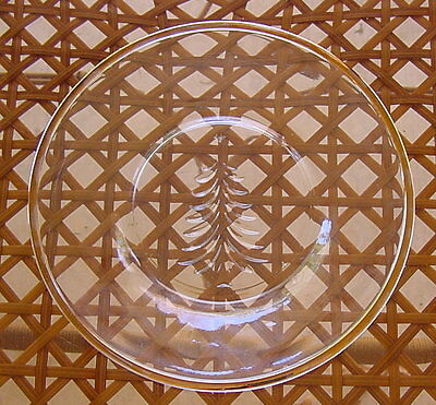 "Indiana Glass Holiday Gold Christmas Tree 8"" Plates New"