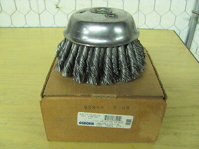 NEW PRAXAIR 4/'/' Knotted Wire Cup Brush Pro Star PRS53043 100mm