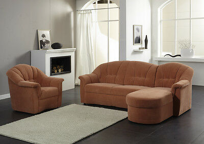 sofa garnitur ecksofa eck couch wohnlandsc haft. Black Bedroom Furniture Sets. Home Design Ideas