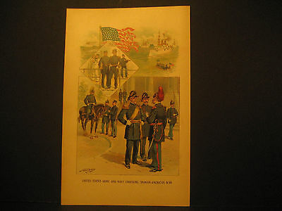 Spanish American War Uniforms, Color Lith 1897