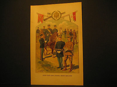 United States Army Uniforms, Color Lith 1897