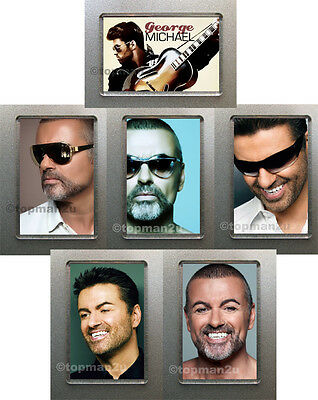 New, Quality Fridge Magnets - GEORGE MICHAEL - Lovely choice of 6 - you pick