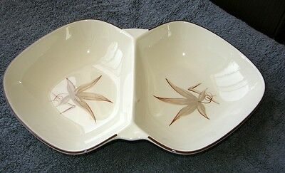 """Mid Century 1949 Winfield """"Dragon Flower"""" Dish, for Divided Serving Dish, 13"""""""