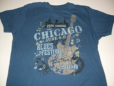 25th Annual Chicago Blues Festival blues tee-shirt size Small