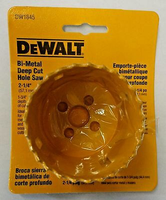 "Dewalt DW1845 2 ¼"" Bi-Metal Deep Cut Hole Saw USA"
