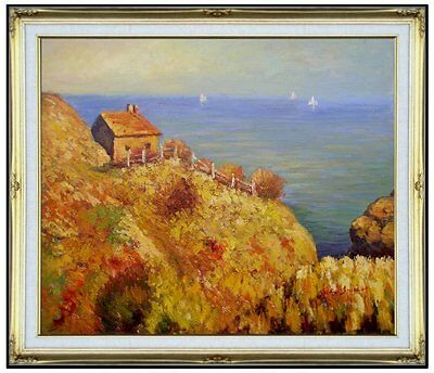 Framed, Quality Hand Painted Oil Painting Repro Monet Officer's Cabin 20x24in