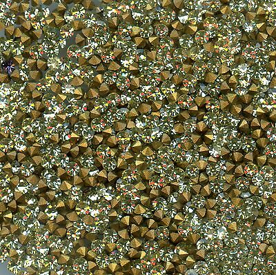 451114***x60 STRASS ANCIENS FOND CONIQUE JONQUIL ***2,1mm*****x60