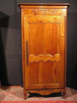 ancienne bonnetiere vendeenne merisier armoire 1 porte eur picclick fr. Black Bedroom Furniture Sets. Home Design Ideas