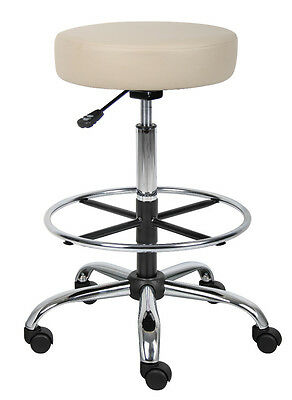 Medical Stool Chair  With Chrome Base & Chrome Foot Ring B16240