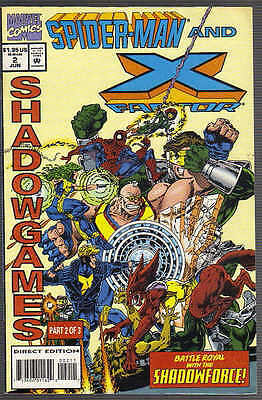 SPIDER-MAN AND X-FACTOR : SHADOWGAMES US MARVEL COMIC VOL.1 # 2of3/'94