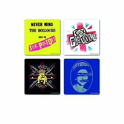 Sex Pistols 4 Drinks Coaster Set 4 Album Covers Gift Box Fan Idea Mug Official