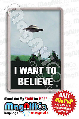 The X-Files - Novelty Fridge Magnet - UFO - Mulder and Scully