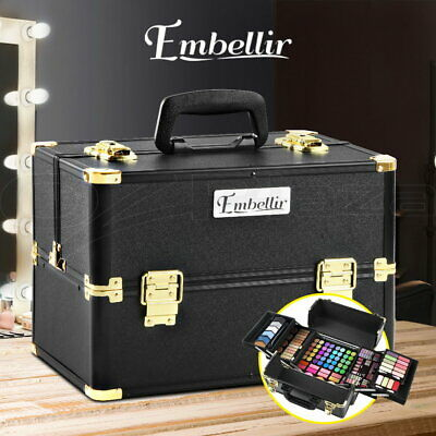 Portable Cosmetics Beauty Case Makeup Case Bags Box Christmas Gift Organiser
