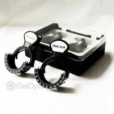 Set Of 2 Trial Lens Clip Optometry Brand New