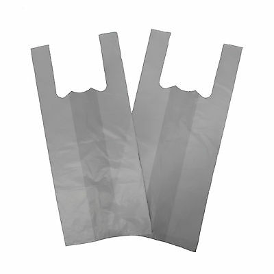 XX Large Jumbo White 12''x 18''x 22'' Vest T-Shirt Carrier Bags x 1000 17 micron