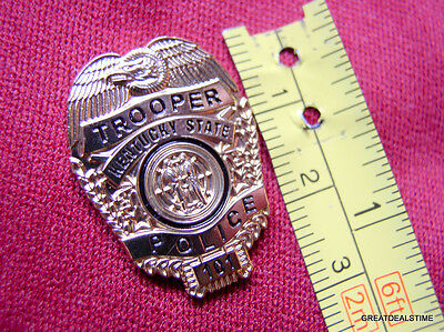 KENTUCKY KY STATE POLICE TROOPER PROUD RESPECT GOLD EAGLE MINI BADGE SHIELD PIN