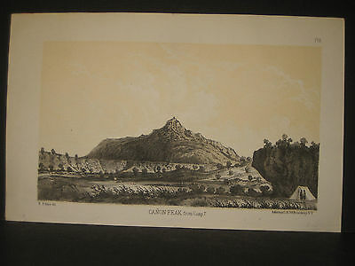 R. H. Kern, Canon Peak, 2 color litho 1854