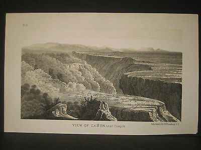 R. H. Kern, Grand Canon View litho 1854