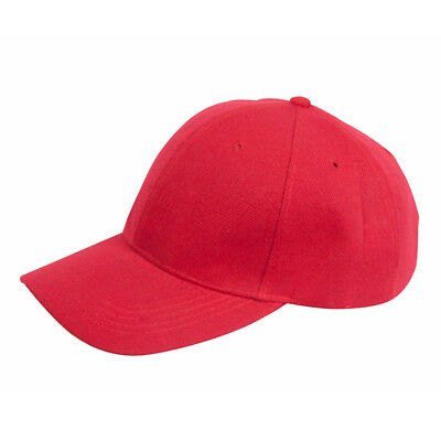 Bulk Lot 12 Plain Baseball Caps Red Hat Cap New