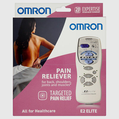Omron E2 Elite Tens Reduce Muscle Pain & Nerve Relief Electronic Stimulator
