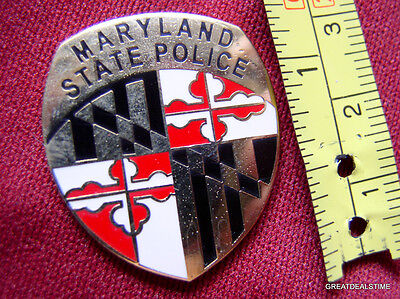 MARYLAND STATE POLICE TROOPER PROUD GOLD MINI PATCH BADGE SHIELD LAPEL PIN NEW