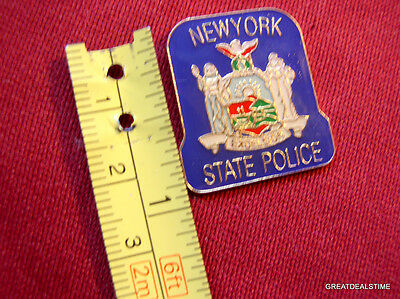 """NEW YORK STATE POLICE NY TROOPER PROUD MINI PATCH BADGE LAPEL TIE TAC PIN NEW 1"""""""