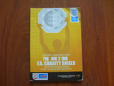 2001 Charity Shield Liverpool V Manchester United