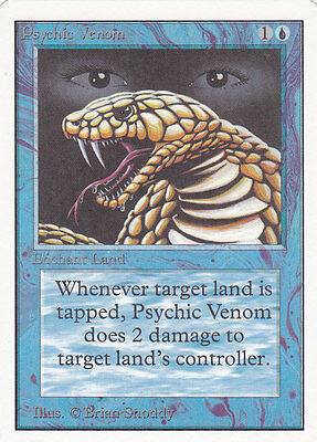 MTG UNLIMITED - PSYCHIC VENOM - Excellent