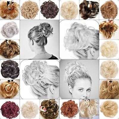 Hair Scrunchie Hair Piece All Colours & Sizes Wavy Curly Straight Spiky