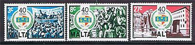 Malta 1983 40th Anniv. of Workers Union SG722/4 MNH