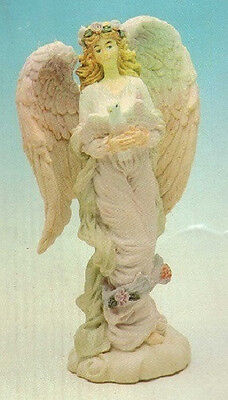 Angel With Dove Figurine Sculpture New