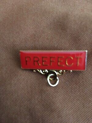 PREFECT Metal Badge Bar Pin Choose From 4 Colours