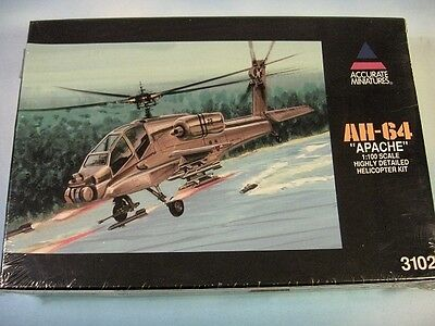 "ACCURATE MINIATURES 1:100 AH-64 ""Apache"" NEU+OVP! 3102"