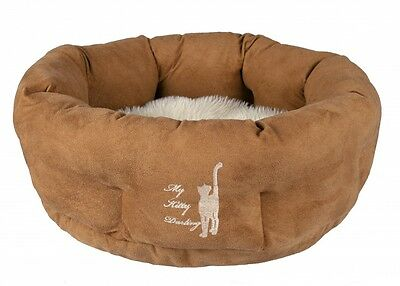 NEW My Kitty Darling Cuddly Round Luxury Cat Kitten Bed 50 cm