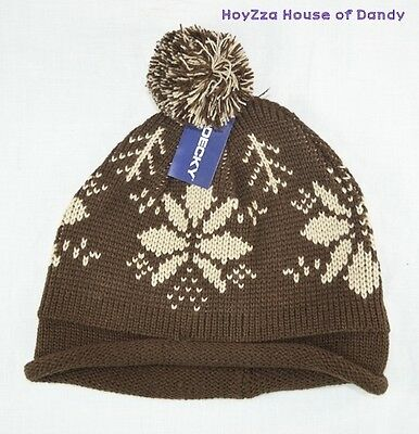 3d76a9149e7 Mens Winter Bobble Beanie Ski Snow hat 2 Colors(Brown
