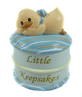 Blue Baby Boy Trinket Box Nursery Decor Baby Gift Keepsake - Russ Baby - NEW