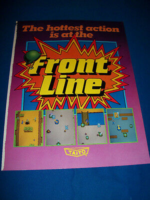 FRONT LINE Video Arcade Game TAITO Sales Flyer LARGE Magazine Insert Brochure