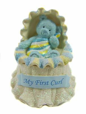 Blue Baby Boy Trinket Box Nursery Decor Baby Gift Keepsake Ornament - NEW