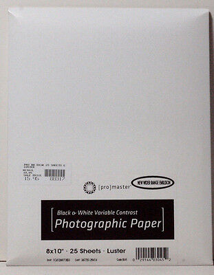 PhotoImage Black and White Luster Paper - 25 sheets 8 x10'' Type E