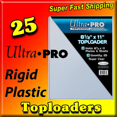 25 8.5x11 8-1/2 x 11 ULTRA PRO RIGID TOPLOADERS PHOTO HOLDERS 81433-25